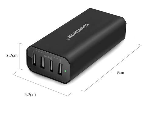 Charger 4 Port sumvision intelligent 4 port usb charger family size