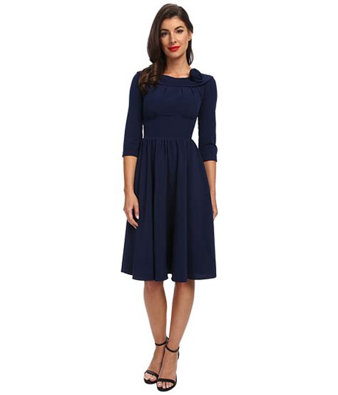 stop staring swing dress stop staring a line swing dress navy shipped free at zappos