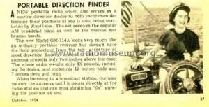 Finder Gm Portable Direction Finder Gm 114a Radio Raytheon Mfg Co