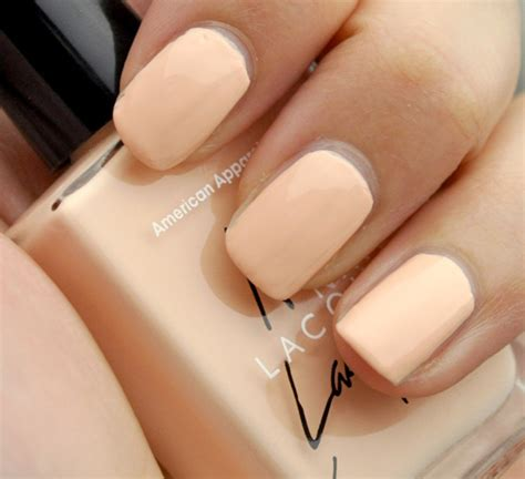 american apparel nail polish review  swatches summer peach butter lesprit malibu green
