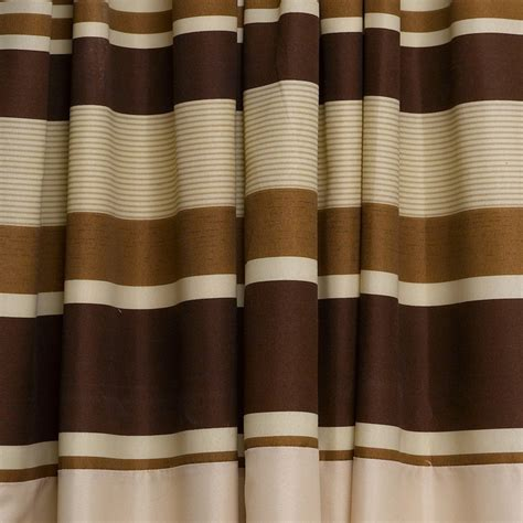 brown striped curtains ready made brown striped fully lined pair of curtains ready made