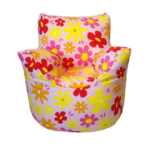 multi coloured bean bags multi coloured flowers design children s bean bag