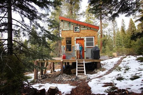 tiny houses on foundations a diy self sustainable micro cabin in california