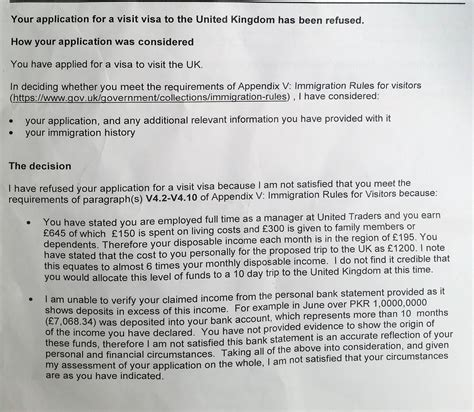 Complaint Letter Visa Refusal Uk Visa Refused Help In Reapplying Will Appreciate Your Response Travel Stack