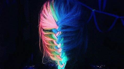 glow in the hair color glow in the rainbow hair is the wacky trend