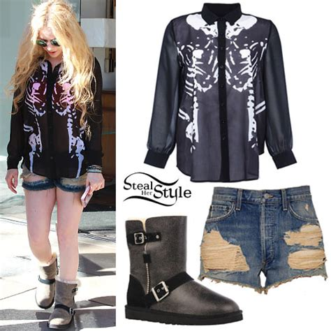 Avril Lavigne's Fashion, Clothes & Outfits   Steal Her Style