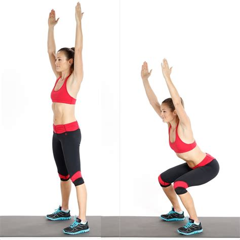 arms reach swing circuit two squat with overhead reach ab and core
