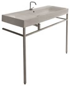 free standing sink bathroom cento 3534 9123k1 free standing sink 47 2 quot x 17 7