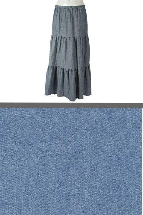 light blue long skirt girls 3 tier custom long skirt light blue denim