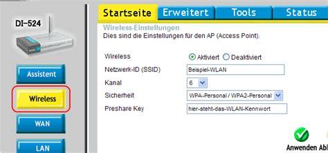WLAN-Einstellungen des D-Link DI-524 ändern » bits meet Bytes D Link Router Passwort ändern