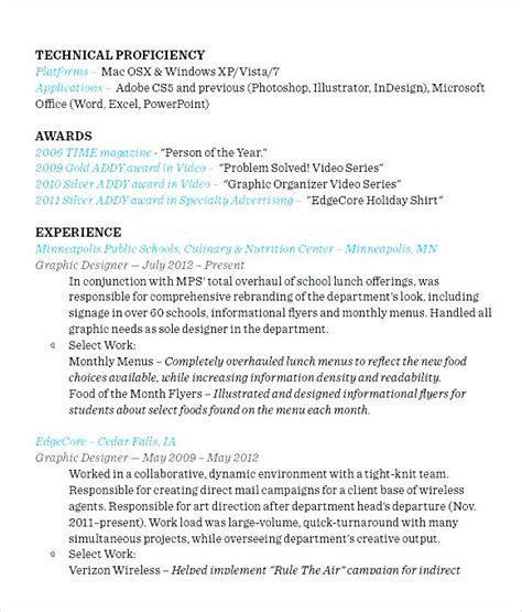 designer resume format pdf free sles exles