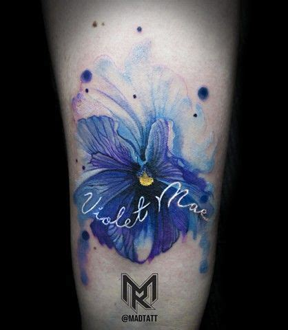 violet tattoo pinterest blue violets tattoos watercolour google search love
