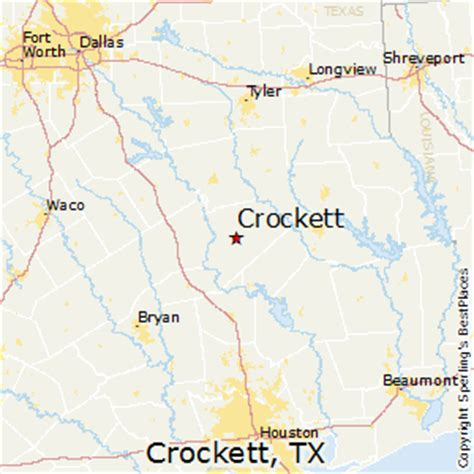 crockett texas map best places to live in crockett texas