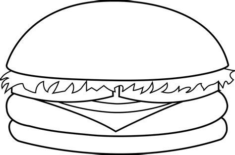 burger king coloring pages veggie burger clipart black and white pencil and in