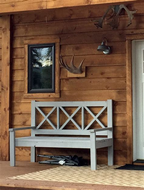 ana white bench ana white large porch bench alaska lake cabin diy