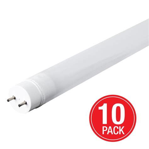 10 Watt Led Light Bulb Feit Electric 32 Watt Equivalent Cool White 4 Ft Linear T8 Led Light Bulb Maintenance Pack 10