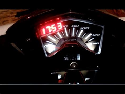 Lu Led Yamaha Xeon pasang voltmeter digital led eagle eye nine di yamaha