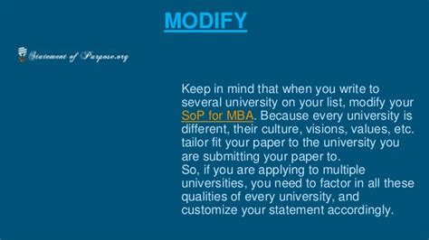 Mba Jargon List by Sop For Mba The Most Important Things To Pay Attention For