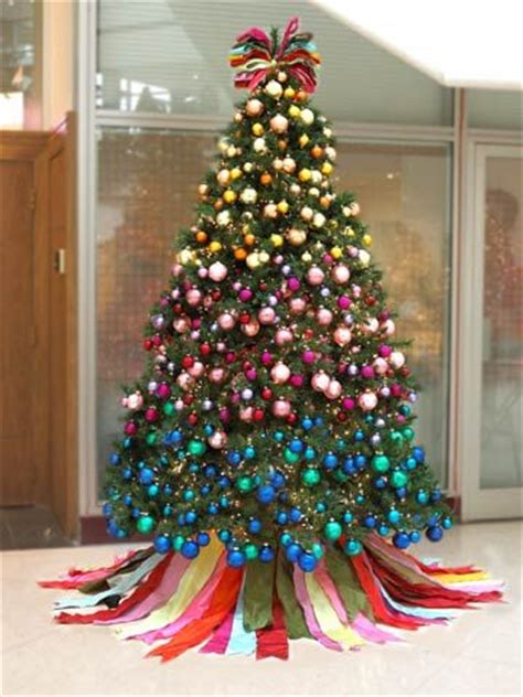 the ribbon color blocking and christmas trees on pinterest