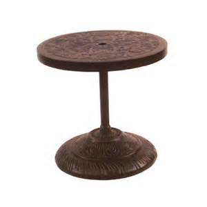 Umbrella Side Table Castelle 24 Inch Side Table With Built In Umbrella Base