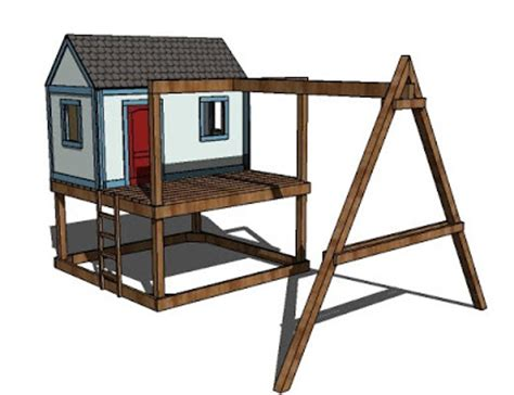 playhouse and swing set plans ana white how to build a swing set for the playhouse