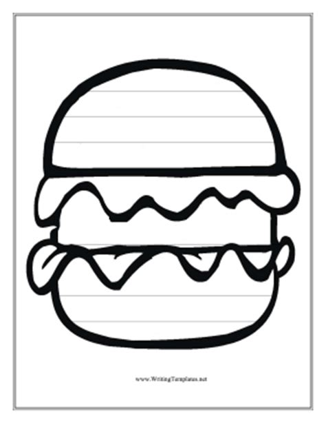 hamburger template printable free tree writing template new calendar