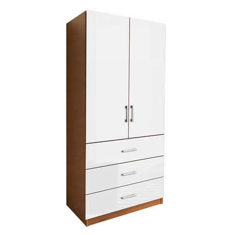 armoires with shelves alta 3 drawer armoire with full width shelves contempo space