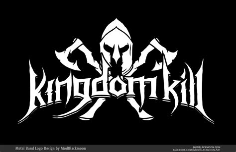 design a metal logo modblackmoon death metal black metal band logo design
