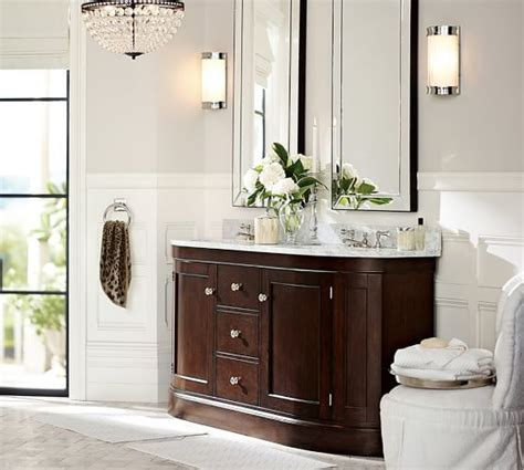 pottery barn bathroom mirrors astor mirror pottery barn if we choose for two sinks