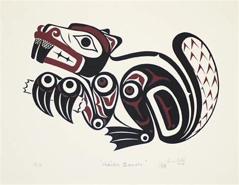 printable haida art clarence mills print haida beaver bill reid gallery