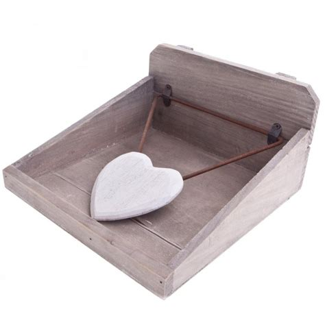 gisela graham wooden heart napkin holder gisela graham