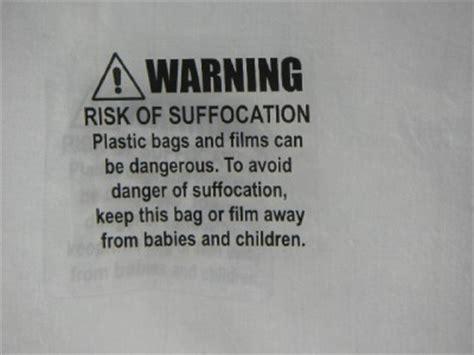 risk of suffocation fba plastic bag film warning label