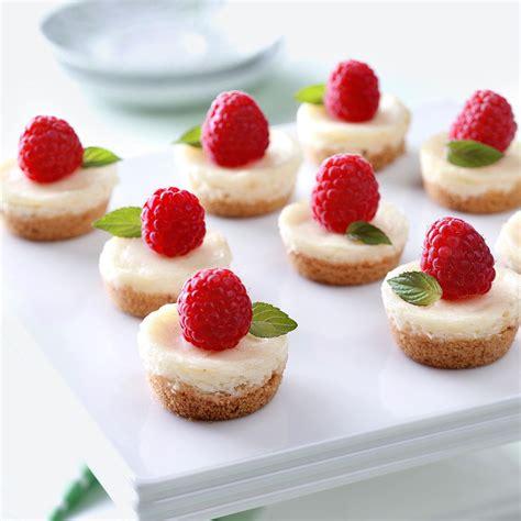 berry mini cheesecakes recipe taste of home