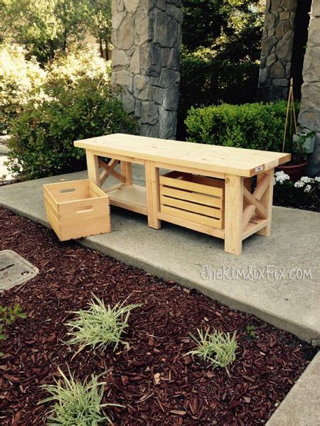 wooden crate bench storage benches crates and simple on pinterest