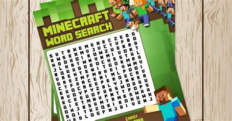 printable word search minecraft free minecraft printables free printable minecraft word