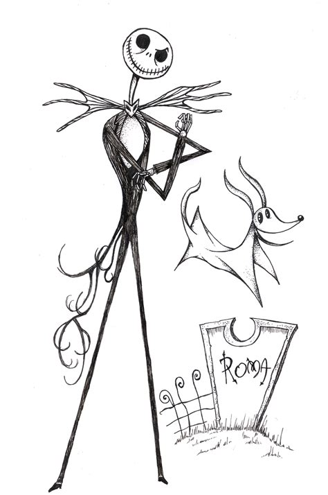 free coloring pages of jack skellington