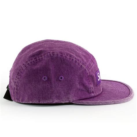 supreme 5 panel supreme 5 panel washed canvas c cap purple washed