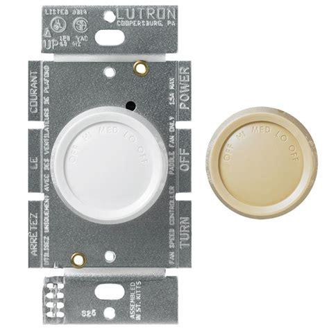lutron fan speed control lutron rotary 1 5 amp single pole 3 speed fan control