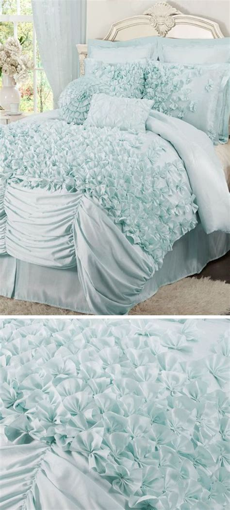 tiffany blue bedding set tiffany blue ruffled comforter set l o v e for the