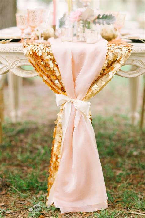 une belle d 233 coration de mariage en rose et or