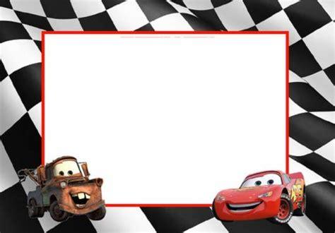 disney cars birthday card template convite carros disney modelos gr 225 tis
