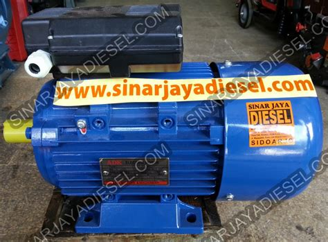 Electro Motor Dinamo Kompresor 3 Pk 1 Phase 220v Aero product category 3 phase sinar jaya diesel