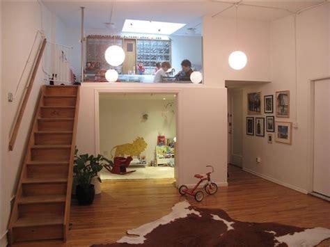 Mezzanine. Living. Studio. Design. Idea. Playroom. Interior. Greenwich Village Apartment In