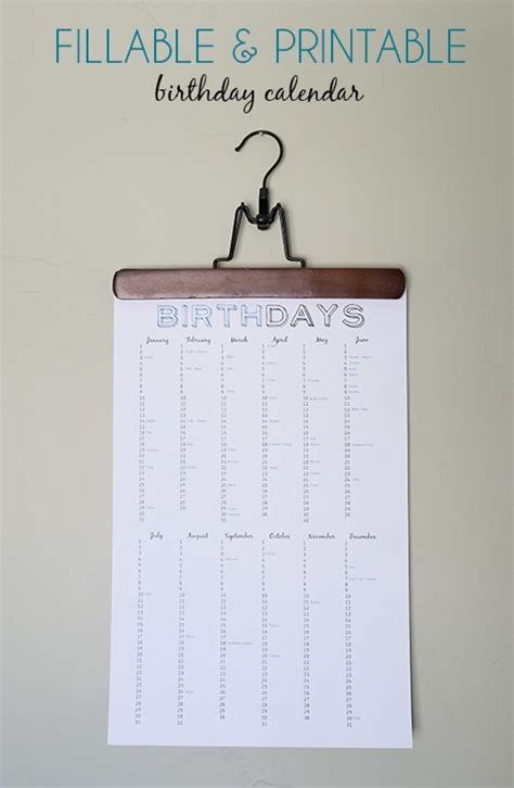 printable birthday party reminder cards 25 best ideas about birthday calendar on pinterest
