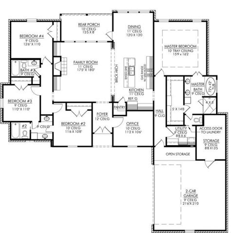best 4 bedroom house plans plan of a house 4 bedrooms unique best 25 4 bedroom house