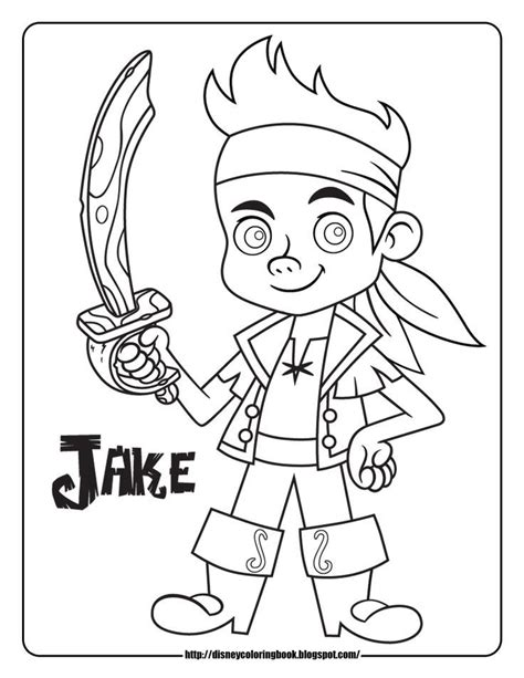 Jake And The Neverland Coloring Pages Free free printable jake and the neverland coloring pages az coloring pages