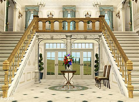 Stairs On Floor Plan my sims 3 blog chateau de bellevue by petalbot