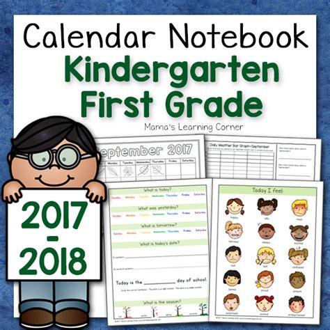 Calendar 2018 Notebook Calendar Notebook For Kindergarten And Grade 2017