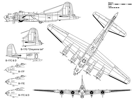 cannoniere volanti boeing b 17 flying fortress blueprint free