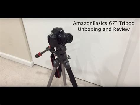 Amazonbasics Tripod For 67 by Amazonbasics 67 Quot Tripod W Fluid Ravelli Avt Unboxing And Review